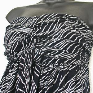 Sleeveless Black Silver Summer/Sun Express Dress